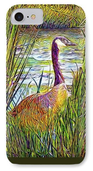 Serene Goose Dreams IPhone Case by Joel Bruce Wallach