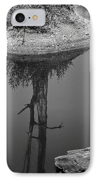 IPhone Case featuring the photograph Serene Reflection, Nagzira, 2011 by Hitendra SINKAR