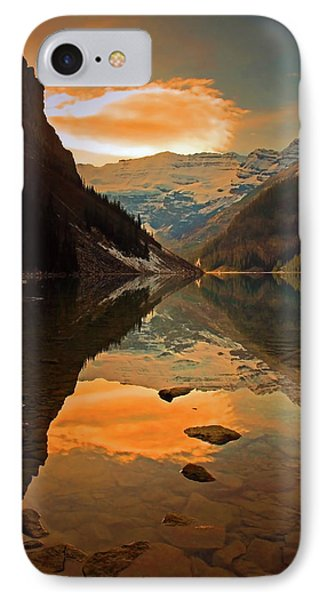Serene Waters At Lake Louise IPhone Case by Tara Turner