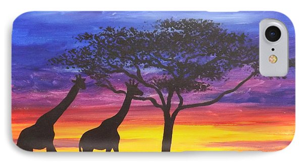 IPhone Case featuring the painting Serengeti Sunset by Darren Robinson