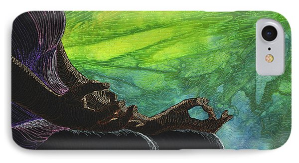 IPhone Case featuring the tapestry - textile Serenity by Jo Baner