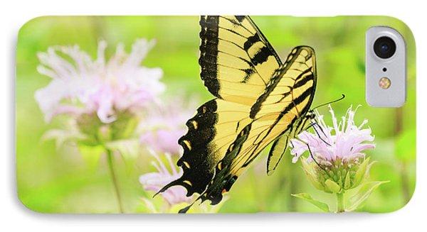 Series Of Yellow Swallowtail #4 Of 6 IPhone Case by Joni Eskridge