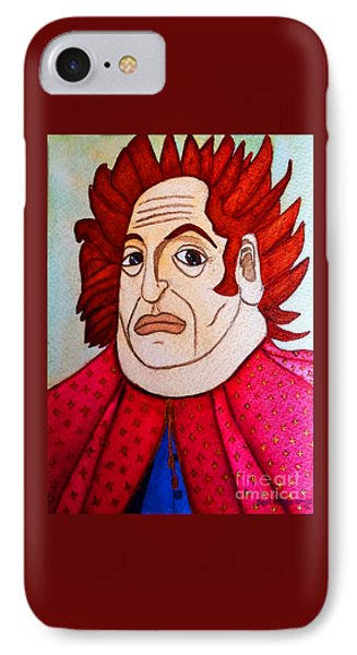 IPhone Case featuring the painting Serious Cardinal by Don Pedro De Gracia