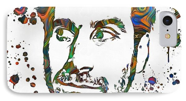 Serj Tankian Paint Splatter IPhone Case by Dan Sproul