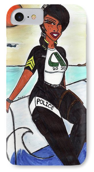 Serve And Protect Hawaiian Style 4-1 Aiea Pride IPhone Case by Ronald Woods