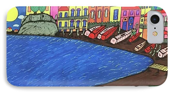 IPhone Case featuring the painting Sestri Levante Italy by Jonathon Hansen
