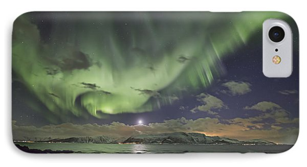 Setting Moon And Aurora IPhone Case