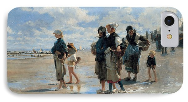 Setting Out To Fish IPhone Case by John Singer Sargent