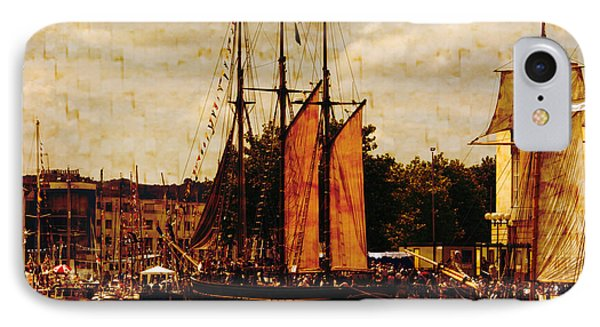 Setting Sail From Bristol IPhone Case by Brian Roscorla