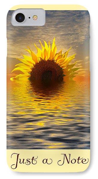 Setting Sun-flower Note Card IPhone Case