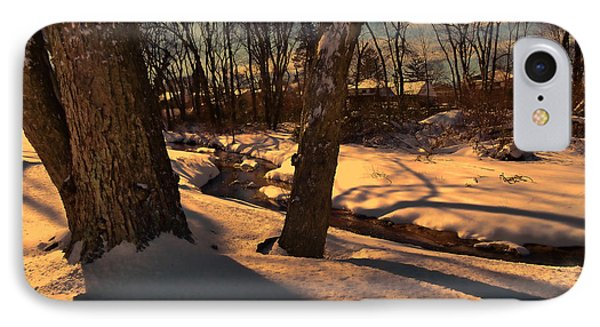 Setting Sun On A Winters Day IPhone Case by Mikki Cucuzzo