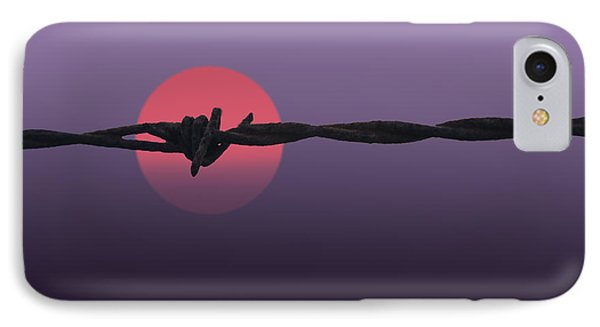 Setting Sun IPhone Case by Skip Tribby