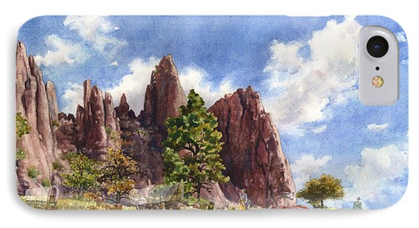 IPhone Case featuring the painting Settler's Park, Boulder, Colorado by Anne Gifford