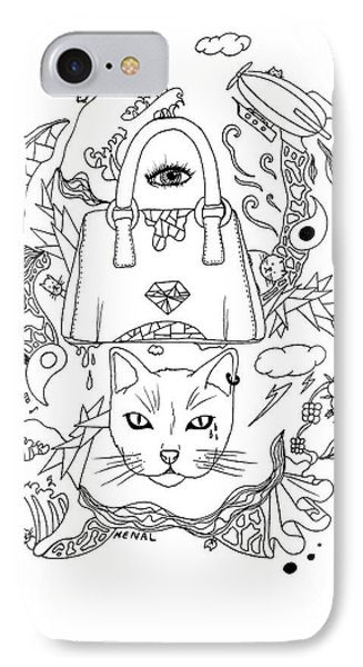 Seven Cats In Tokyo Contour IPhone Case by Kenal Louis