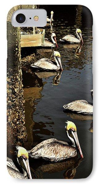 Seven Pelicans IPhone Case