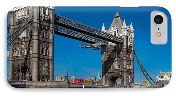 IPhone 7 Case featuring the photograph Seven Seconds - The Tower Bridge Hawker Hunter Incident  by Gary Eason