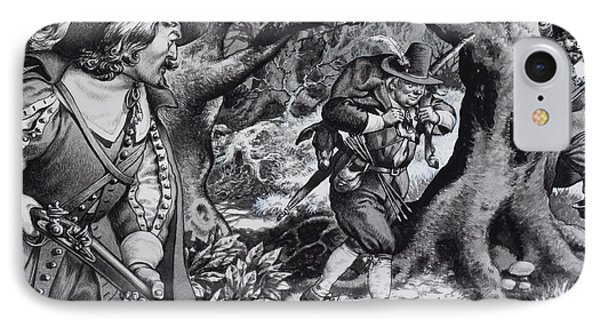 Seventeenth Century Poacher IPhone Case by Pat Nicolle