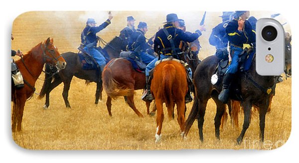 Seventh Cavalry In Action Phone Case by David Lee Thompson