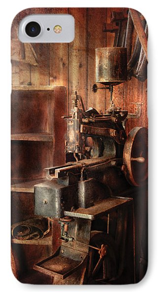 Sewing - Sewing Machine For Saddle Making Phone Case by Mike Savad