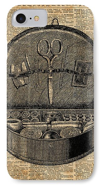 Sewing Tools Dictionary Art IPhone Case