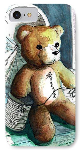 Sewn Up Teddy Bear IPhone Case