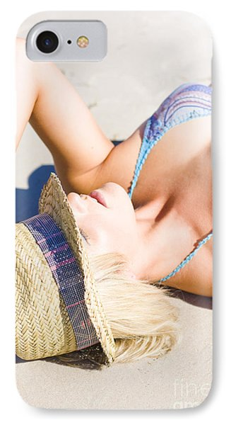 Sexy Woman On Sand IPhone Case by Jorgo Photography - Wall Art Gallery