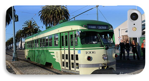 IPhone Case featuring the photograph Sf Muni Railway Trolley Number 1006 by Steven Spak