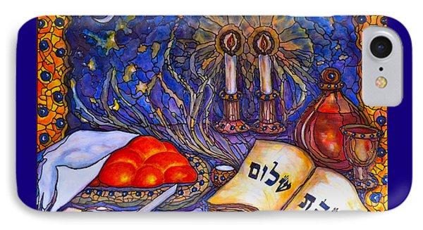 Shabbat Shalom IPhone Case by Rae Chichilnitsky