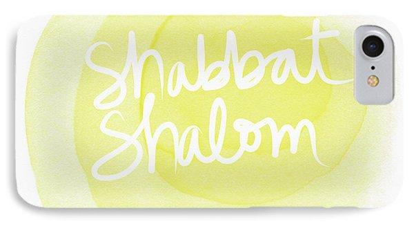Shabbat Shalom Sun Drop - Art By Linda Woods IPhone Case by Linda Woods