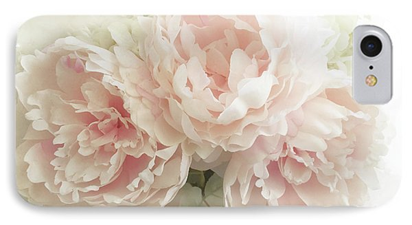 IPhone Case featuring the photograph Shabby Chic Romantic Pastel Pink Peonies Floral Art - Pastel Peonies Home Decor by Kathy Fornal