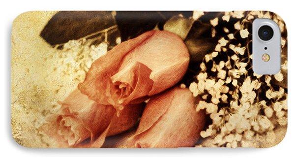Shabby Orange Vintage Roses IPhone Case