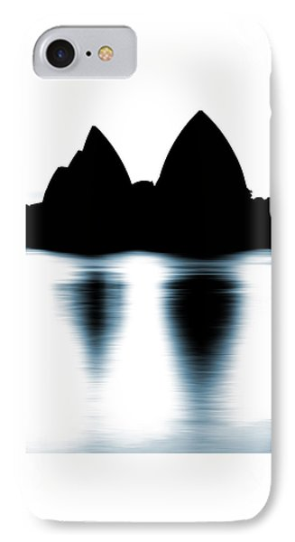 Shaded Peaks  IPhone Case by Az Jackson