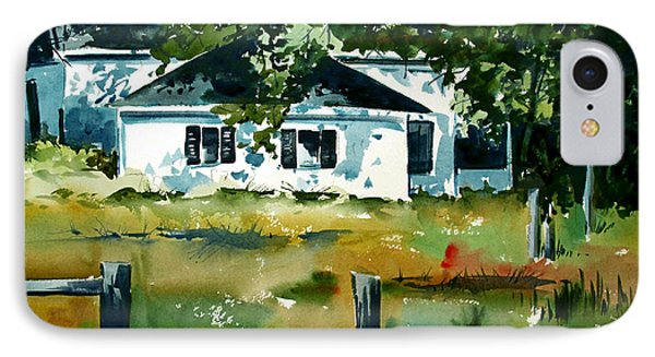 IPhone Case featuring the painting Shaded Porch by Charlie Spear