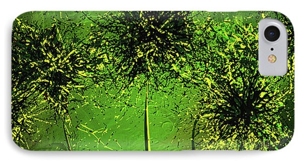 Shades Of Green - Green Modern Art IPhone Case