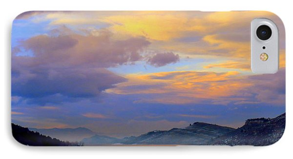 Shades Of Lake Sunsets-1 IPhone Case