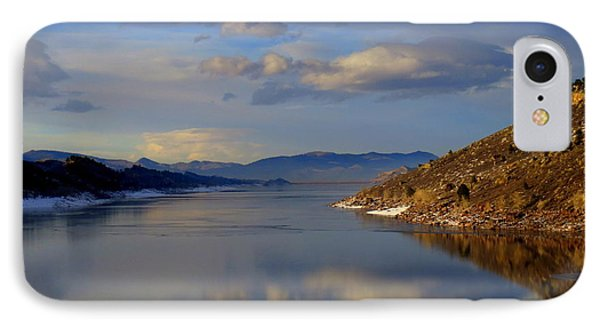 Shades Of Lake Sunsets - 3 IPhone Case by Diane M Dittus