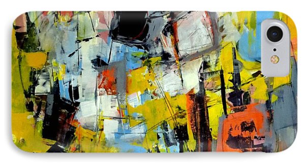 IPhone Case featuring the painting Shades Of Yellow by Katie Black