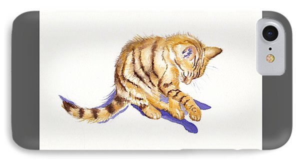 Cat iPhone 7 Case - Shadow Boxing by Debra Hall