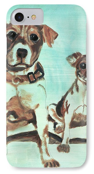 Shadow Dogs Phone Case by Terry Lewey