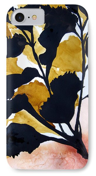 IPhone Case featuring the painting Shadow Hibiscus by Lil Taylor