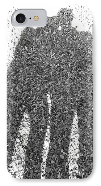 IPhone Case featuring the photograph Shadow In The Meadow Bw by Wilhelm Hufnagl