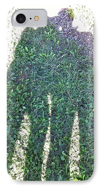 IPhone Case featuring the photograph Shadow In The Meadow by Wilhelm Hufnagl