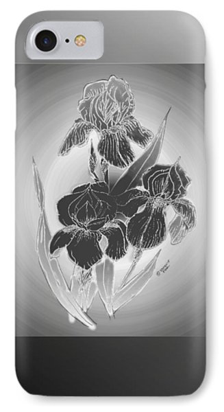 Shadow Iris II IPhone Case by Jacquie King