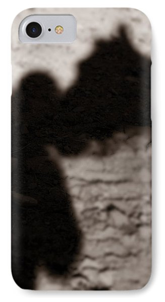 Shadow Of Horse And Girl - Vertical Phone Case by Angela Rath