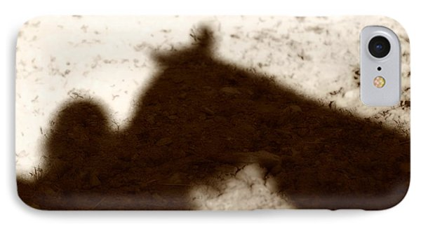 Shadow Of Horse And Girl Phone Case by Angela Rath