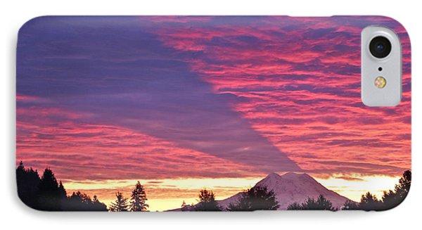 Shadow Of Mount Rainier IPhone Case by Sean Griffin
