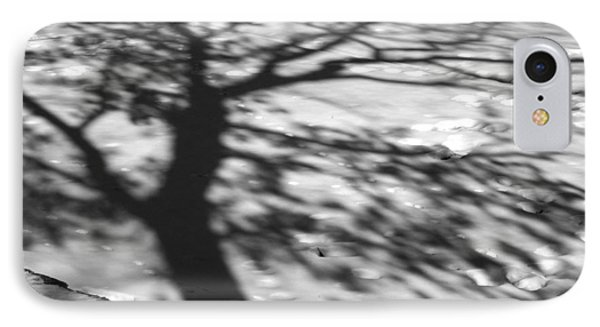 Shadow Tree  Herrick Lake  Naperville Illinois IPhone Case by Michael Bessler