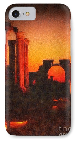 Shadows Of Palmyra IPhone Case by Mo T