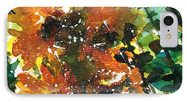 Shadows Of Sunflowers Phone Case by Garima Srivastava