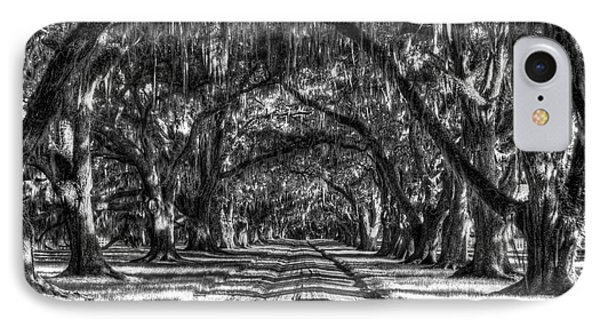 Shadows Of Time Tomotley Plantation Live Oak Art IPhone Case by Reid Callaway
